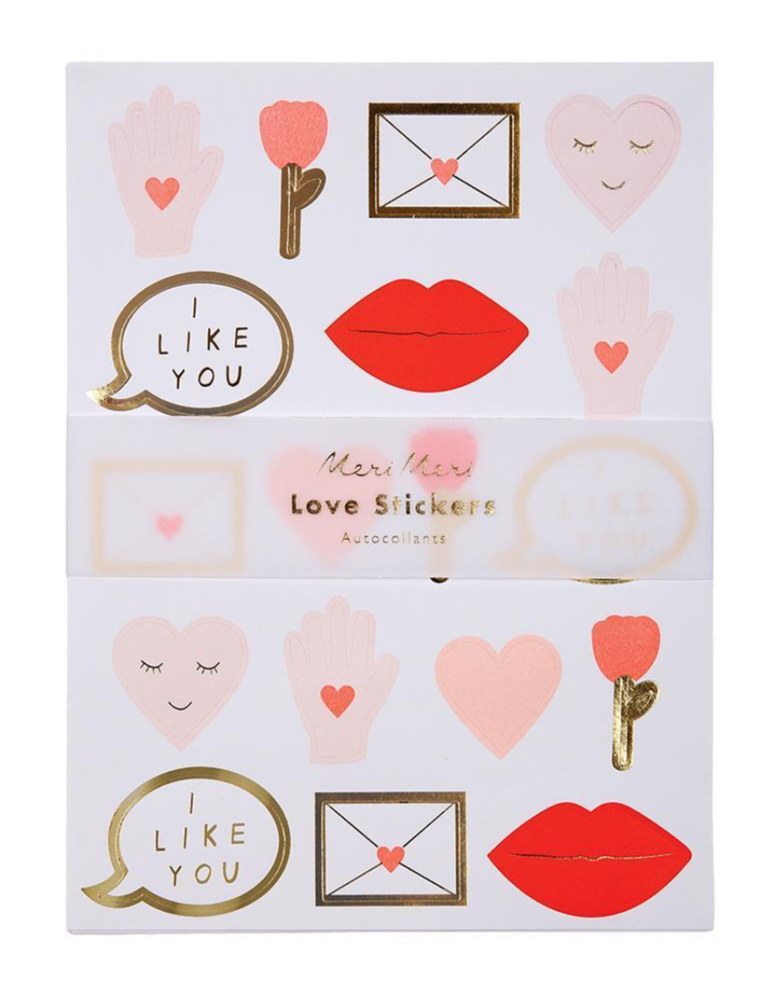 STICKERS LOVE SET OF 10 SHEETS