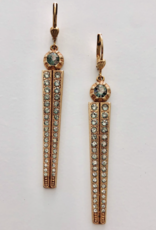 EARRING SPEAR WITH RHINESTONES GOLD