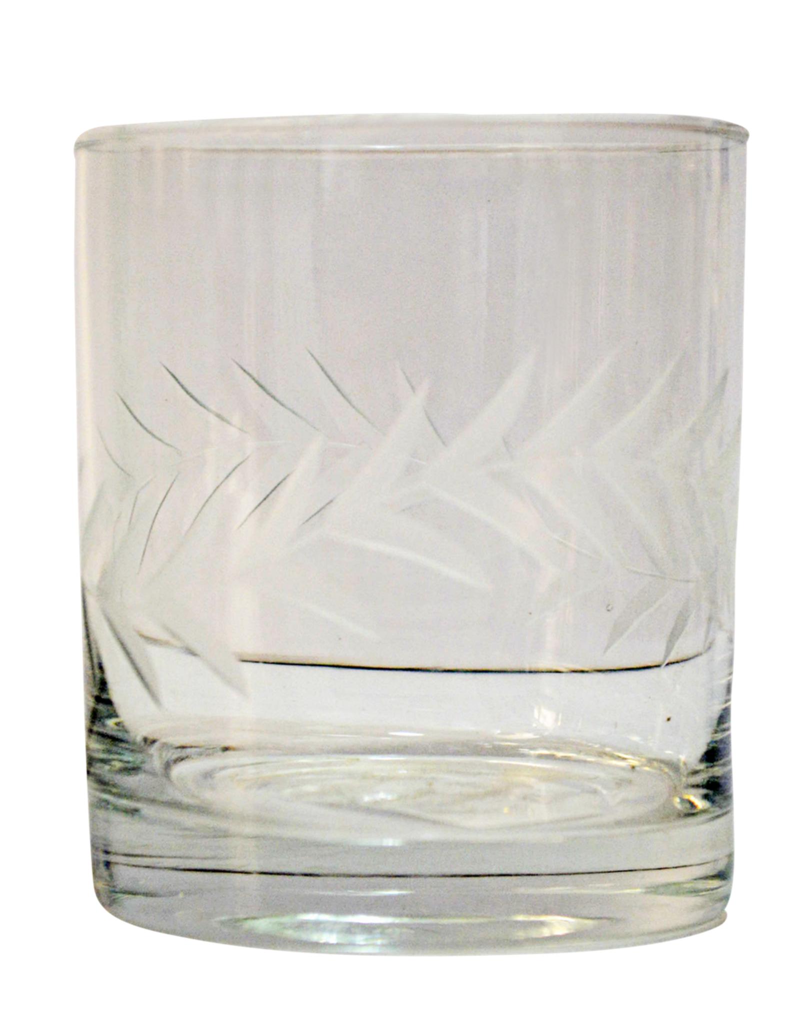 BIDK HOME GLASS DRINKING TUMBLER LAUREL CLEAR