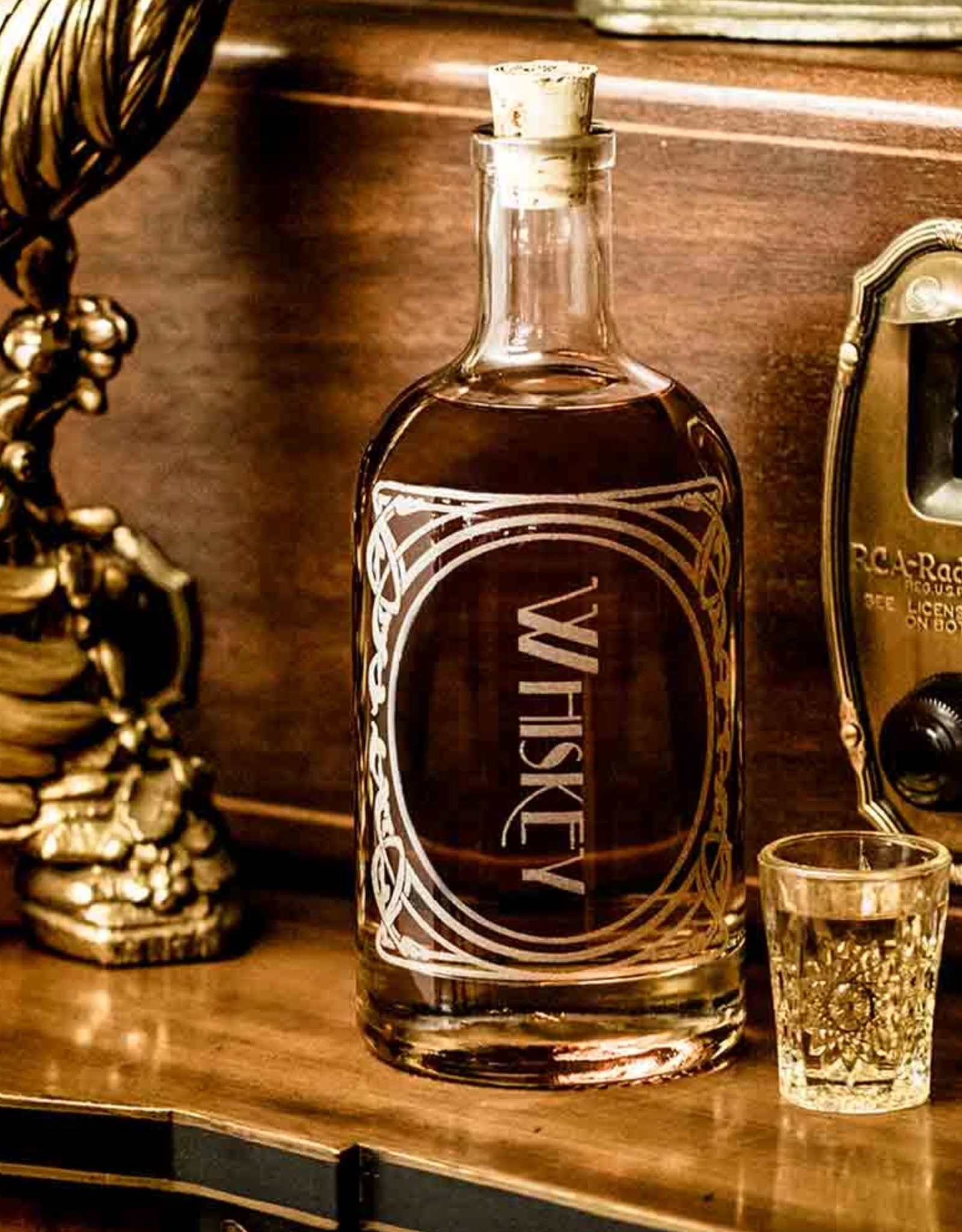 BOTTLE ETCHED WHISKEY
