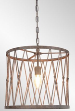 PENDANT LAMP BRAYLON METAL CAGE STRUCTURE LARGE