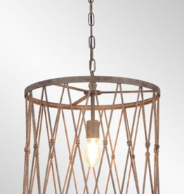 CLASSIC HOME PENDANT LAMP BRAYLON METAL CAGE STRUCTURE LARGE