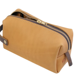 DOPP KIT LEATHER BAG HIGH LINE MEDIUM BUCKSKIN