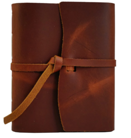 NOTEBOOK LEATHER TRAVELER JOURNAL FLAP TIE SADDLE