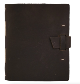 NOTEBOOK LEATHER TRAVELER JOURNAL BUCKLE DARK BROWN