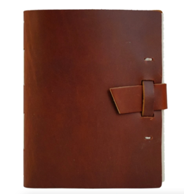 NOTEBOOK LEATHER TRAVELER JOURNAL BUCKLE SADDLE
