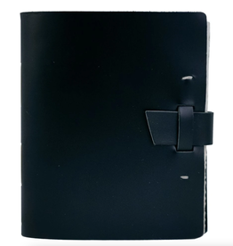 NOTEBOOK LEATHER TRAVELER JOURNAL BUCKLE BLACK