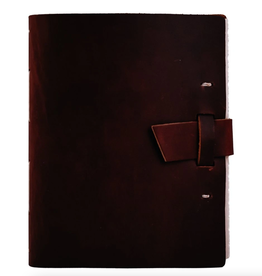NOTEBOOK LEATHER TRAVELER JOURNAL BUCKLE BURGUNDY