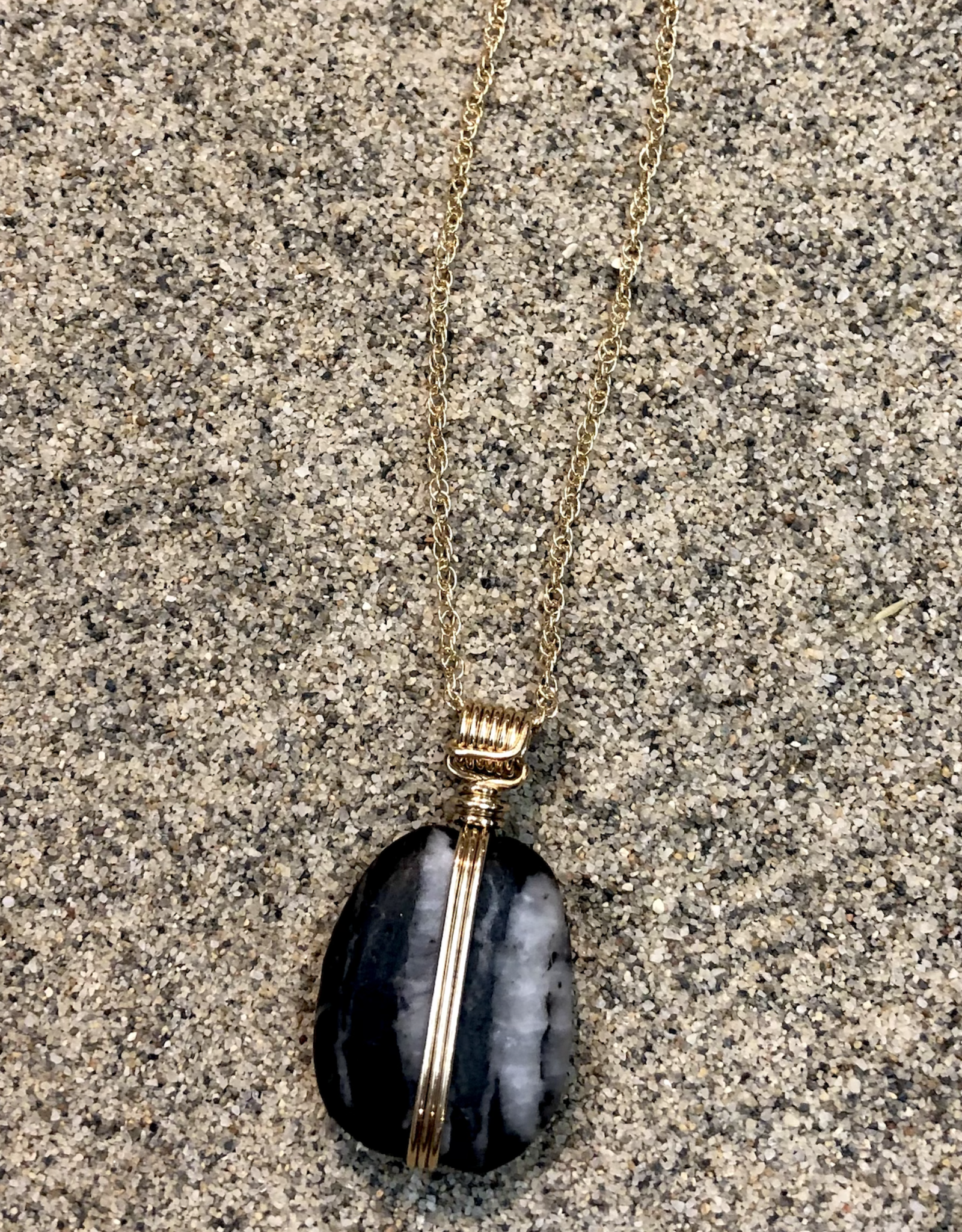 CATLIN BLAIR HARVEY NECKLACE BOUND EARTH 1 WITH GOLD WRAP