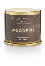 CANDLE DEMI TIN WOODFIRE SMALL