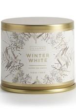 CANDLE DEMI TIN WINTER WHITE LARGE