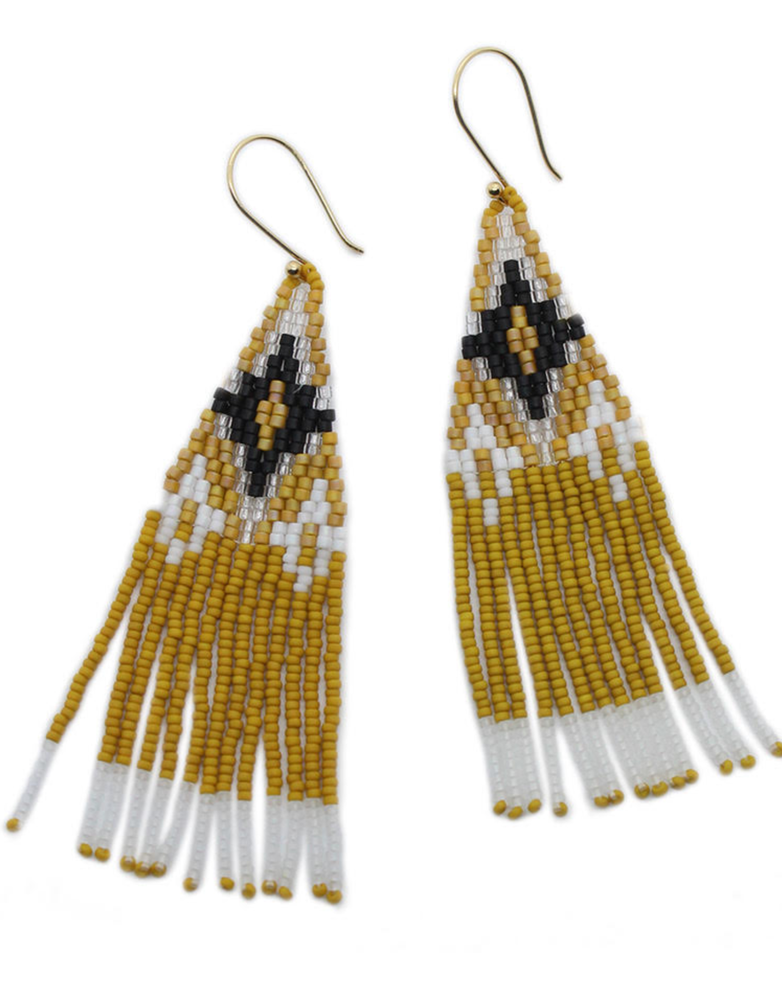 BLUMA PROJECT EARRING DANGLE OJAI AMBER YELLOW WHITE AND BLACK
