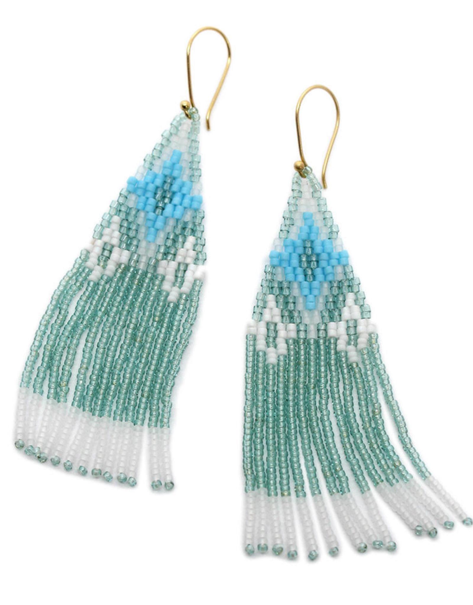 BLUMA PROJECT EARRING DANGLE OJAI SAGE GREEN WHITE AND BLUE
