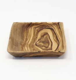 SCENTS AND FEEL DISH TRAY 4X4 OLIVE WOOD SQUARE