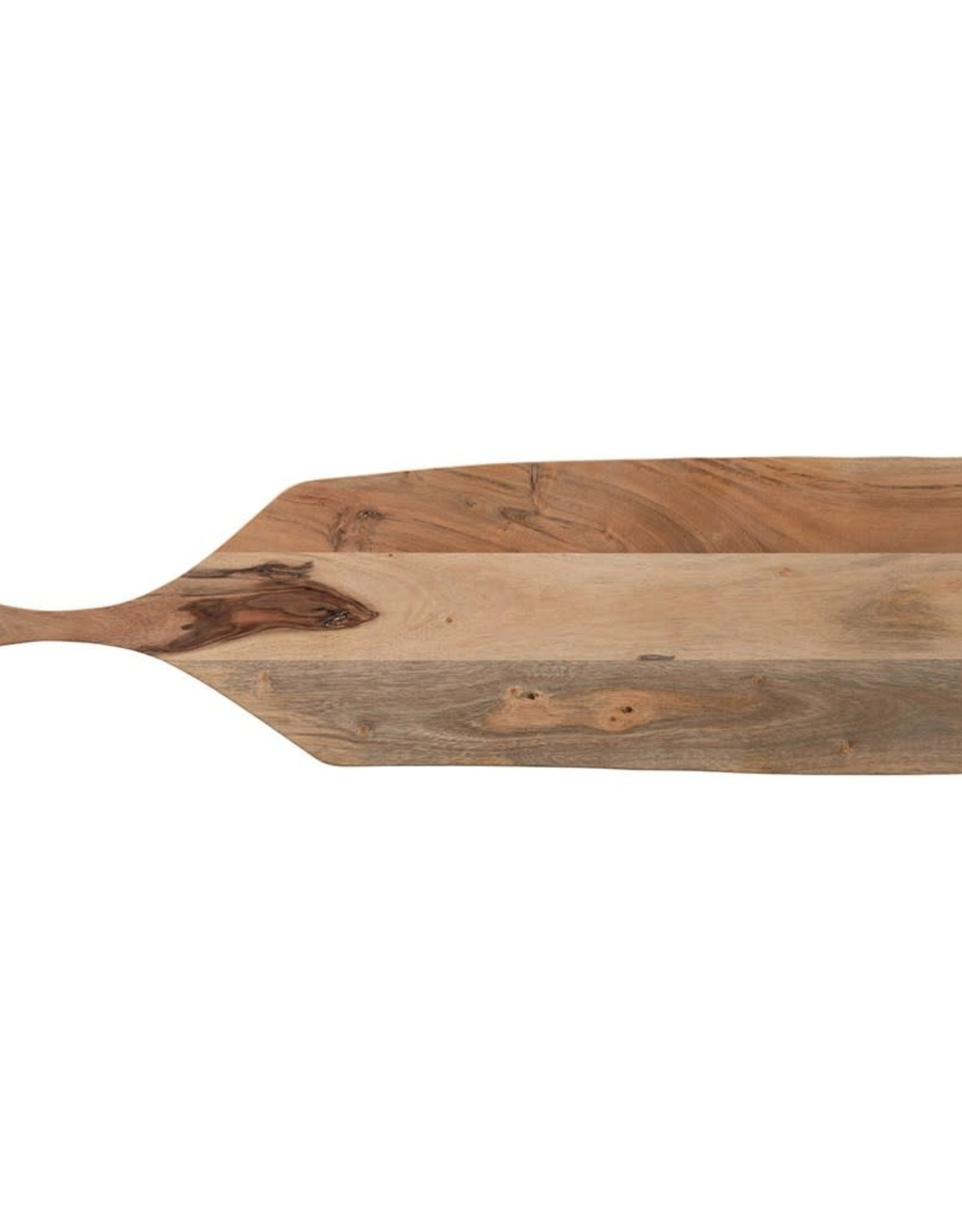 BOARD CUTTING SERVING RECTANGLE ACACIA WOOD WITH HANDLE 32 INCH