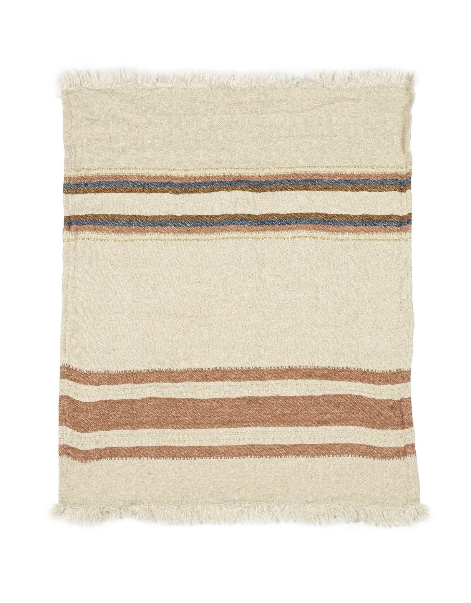 LIBECO LAGAE BLANKET THROW TOWEL FOUTA HARLAN STRIPE 43 X 71
