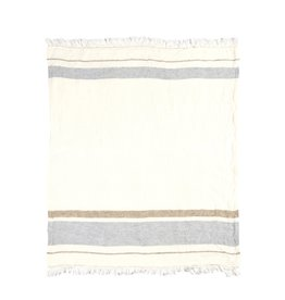 BLANKET THROW TOWEL FOUTA OYSTER STRIPE 43 X 71
