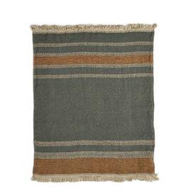 BLANKET THROW TOWEL FOUTA ALOUETTE STRIPE 43 X 71