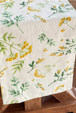 """MAHOGANY TABLECLOTH MEADOW WHITE RUNNER 13X72"""""""