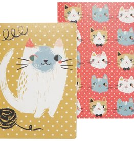NOW DESIGNS NOTEBOOK SET OF 2 MEOW MEOW