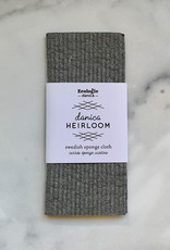 NOW DESIGNS DISH SPONGE CLOTH SWEDISH HEIRLOOM SHADOW GRAY