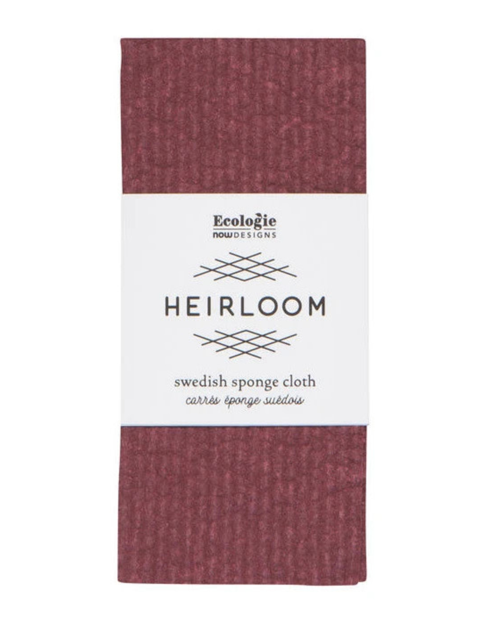 NOW DESIGNS DISH SPONGE CLOTH SWEDISH HEIRLOOM WINE PURPLE