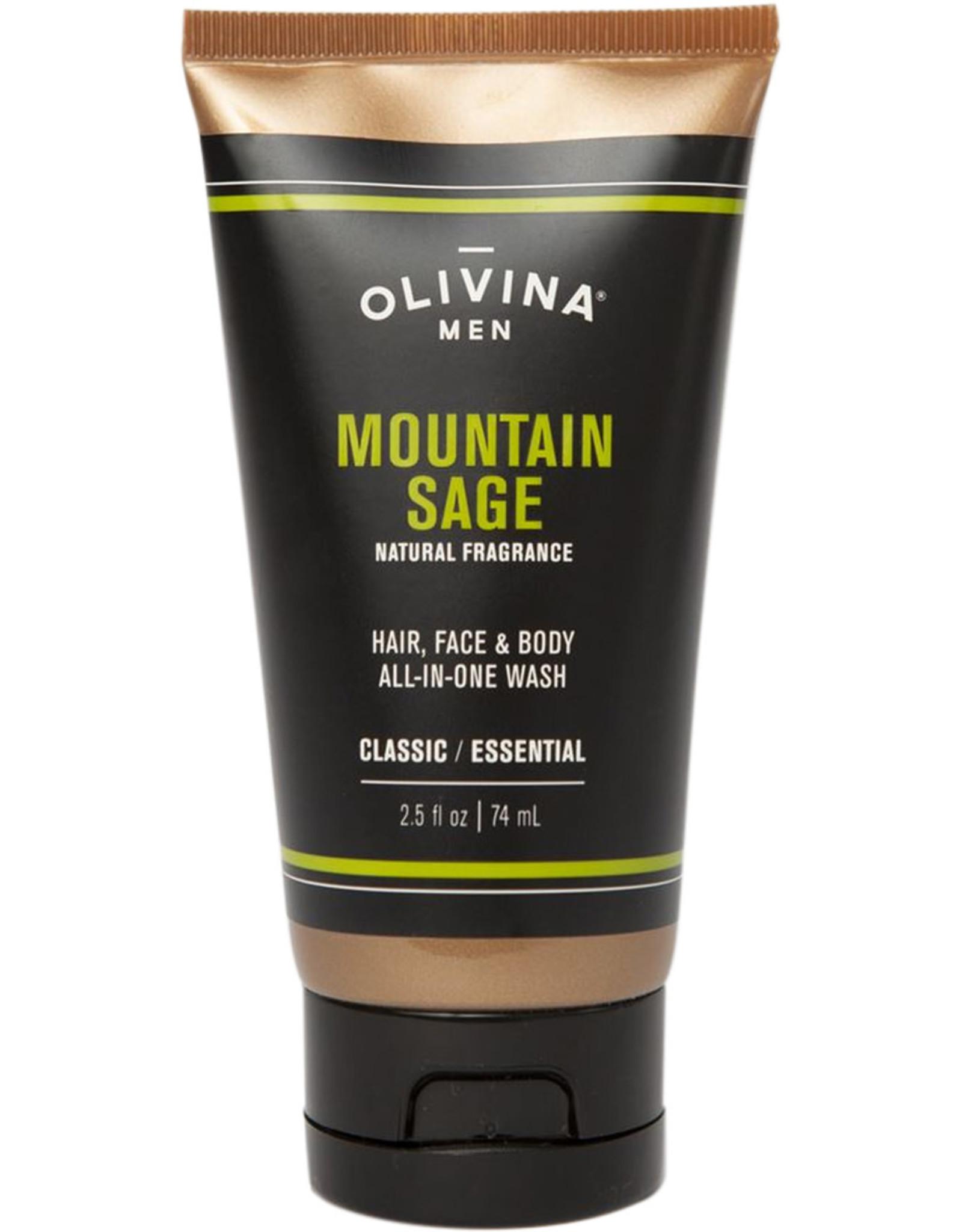 OLIVINA BODY WASH TUBE 2.5 OZ MOUNTAIN SAGE