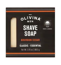 OLIVINA SOAP BAR 3.15OZ  SHAVING BOURBON CEDAR