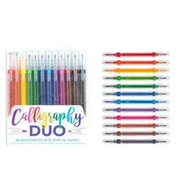 PENS CALLIGRAPHY DUO DOUBLE ENDED MARKERS SET OF 12