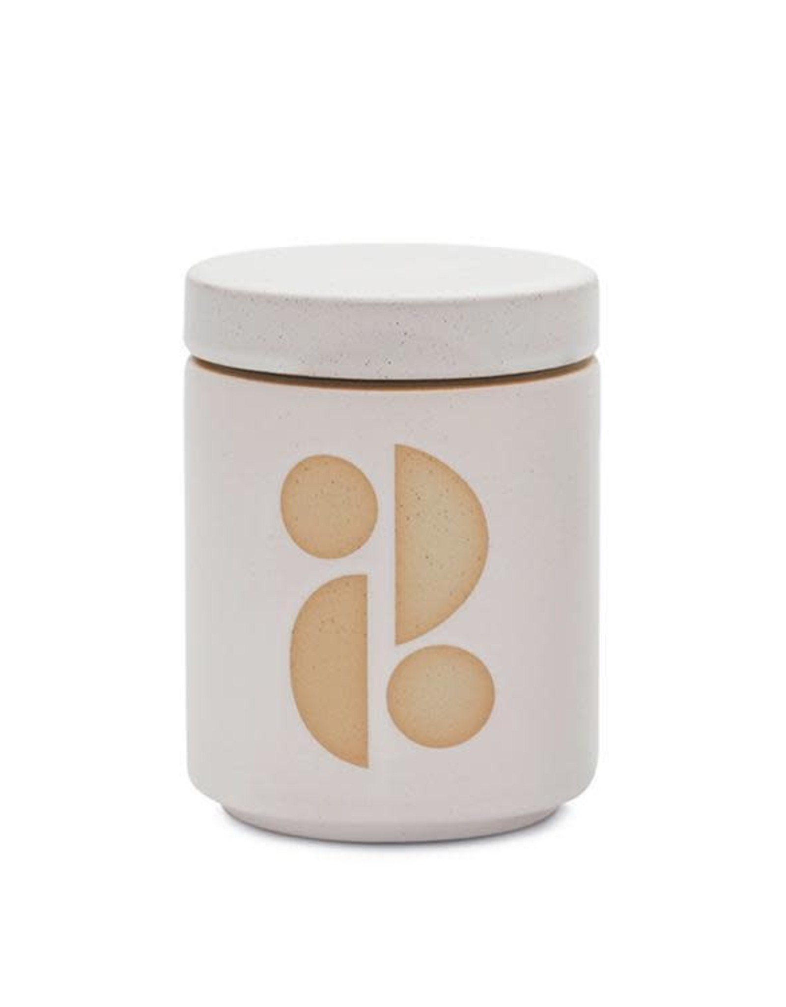 CONTAINER CANDLE FORM TOBACCO FLOWER WHITE CERAMIC LARGE 12OZ