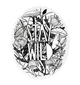 PEN AND PINE STICKER VINYL STAY WILD
