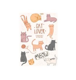 PEN AND PINE STICKER SHEET CATS