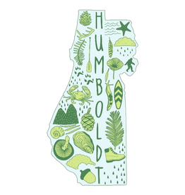 PEN AND PINE STICKER VINYL HUMBOLDT COUNTY OUTLINE WITH ICONS LARGE