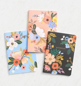 RIFLE PAPER COMPANY NOTEBOOK SET OF 3 LIVELY FLORAL