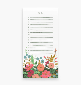NOTEPAD TO DO FLORAL VINES MARKET