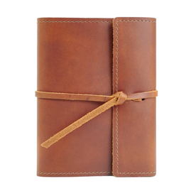 NOTEBOOK WRITERS LOG SMALL REFILLABLE LINED SADDLE