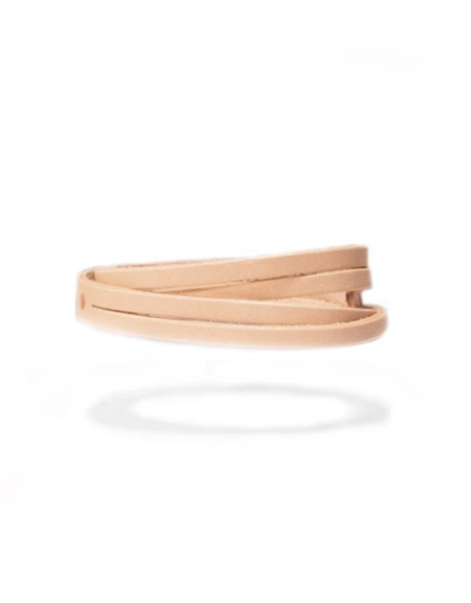BRACELET BYWAY LEATHER WRISTBAND NATURAL