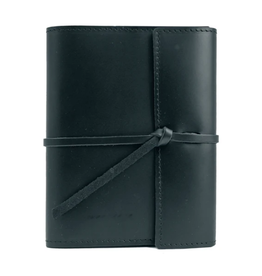 NOTEBOOK WRITERS LOG SMALL REFILLABLE LINED BLACK