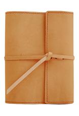 NOTEBOOK WRITERS LOG SMALL REFILLABLE LINED BUCKSKIN