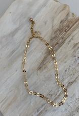 SAVANNAH GOODWIN BRACELET CHAIN 7 INCH SEQUIN GOLD
