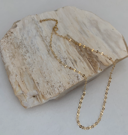 SAVANNAH GOODWIN NECKLACE CHAIN 16 INCH SEQUIN GOLD
