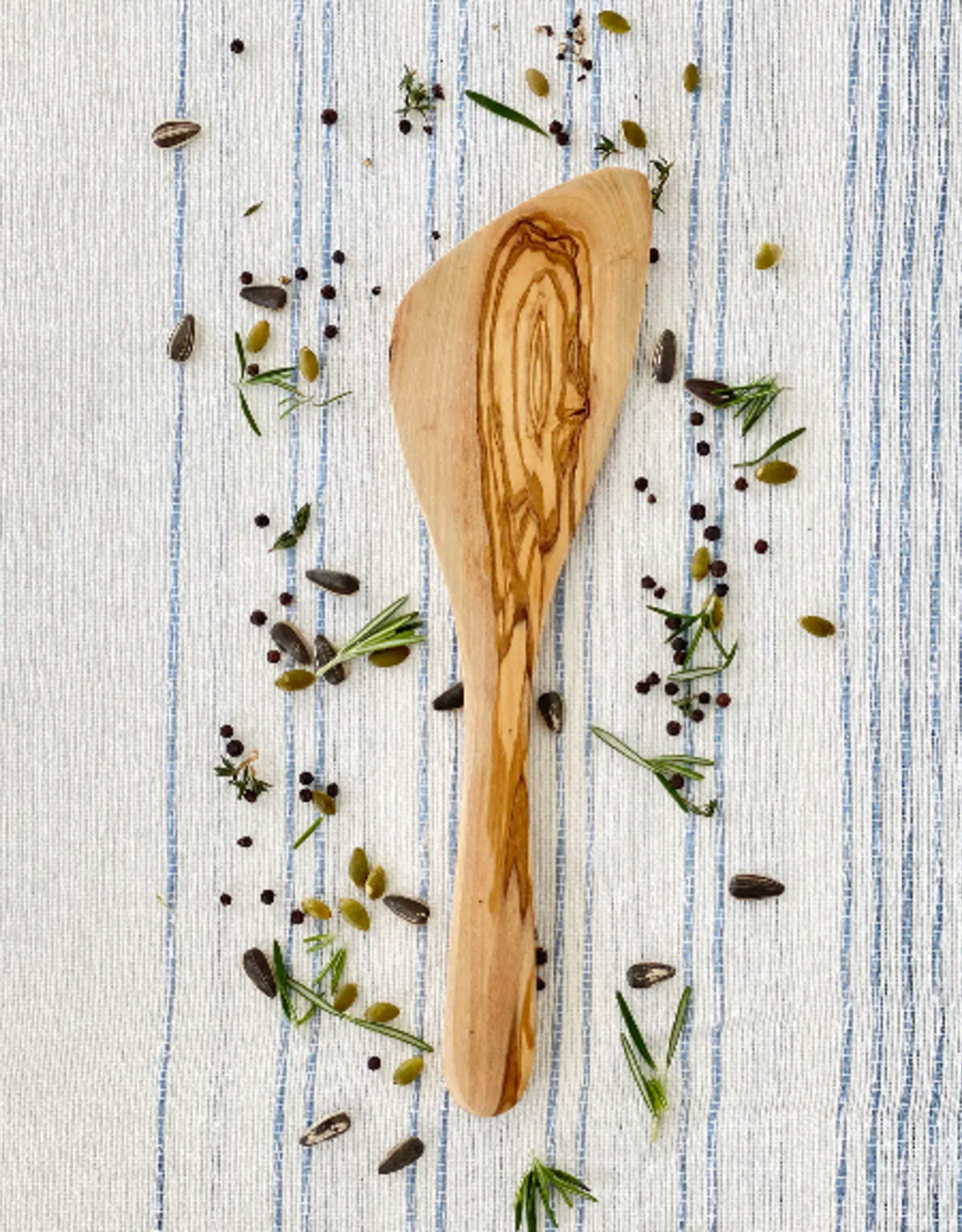 SPATULA OLIVE WOOD CURVED