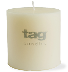 """PILLAR CANDLE UNSCENTED IVORY WHITE 2X2"""""""