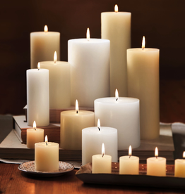 """PILLAR CANDLE UNSCENTED IVORY WHITE 3X8"""""""