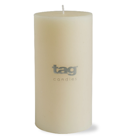 """PILLAR CANDLE UNSCENTED IVORY WHITE 3X6"""""""