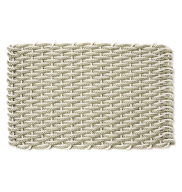 RUG DOORMAT OYSTER SAGE 18X30 SMALL