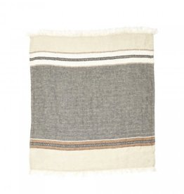 TOWEL FOUTA BEESWAX STRIPE 14 X 20