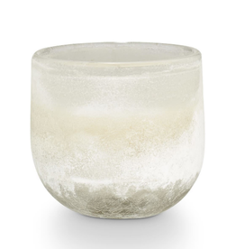 CONTAINER CANDLE MOJAVE PALOMA PETAL LIGHT GRAY SANDED GLASS SMALL 6.9OZ