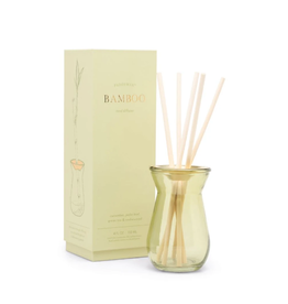 FRAGRANCE DIFFUSER FLORA BAMBOO IN GREEN GLASS BOTTLE 4OZ