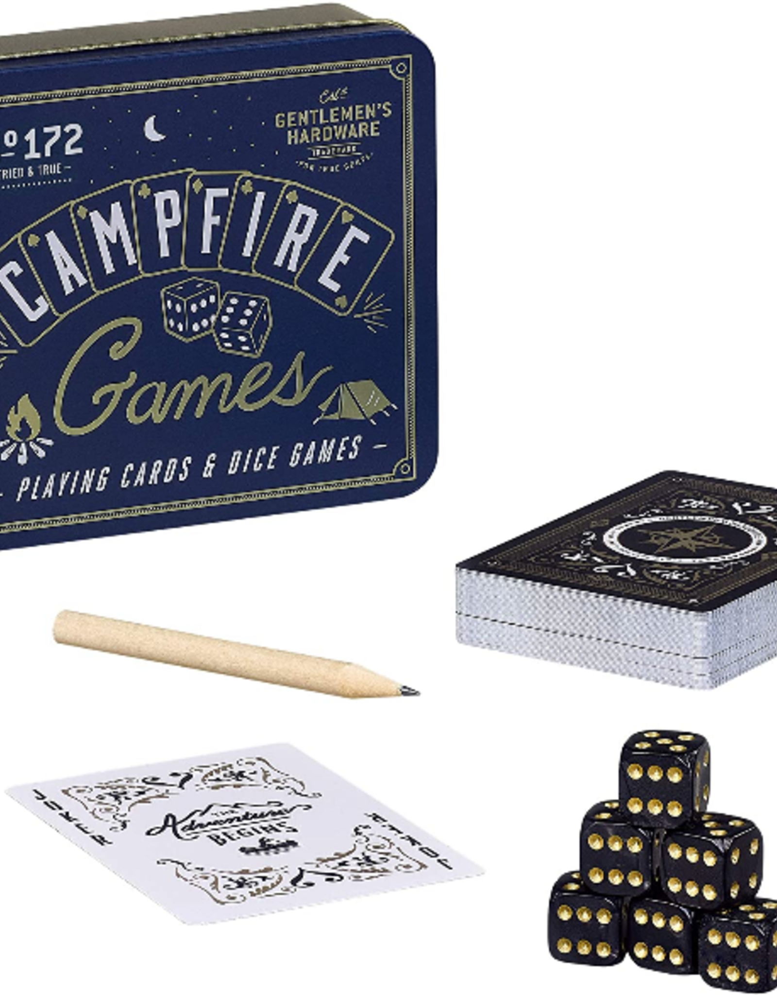 GAME CAMPFIRE CARDS AND DICE